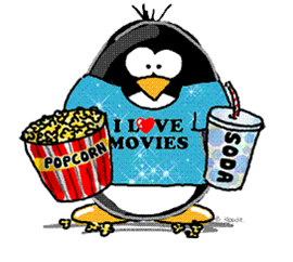 penguin going to the movies